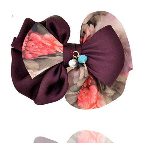 Korean version of butterfly first clip top clip headgear Korea hairpin hair accessories Horizontal clamp clip Lady accessories-A