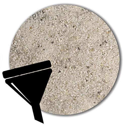 Müller GmbH 25 kg weisser Filtersand Filterkies Filterquarzsand für Sandfilteranlagen Pool (0,4-0,8 mm)