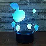 VIP luz de Noche de Color de luz de Perro para niños Mesa táctil bebé Dormir Noche luz envío de la Gota