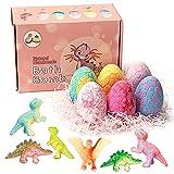 QuetaBombas de baño,Bola de baño de huevo de dinosaurio para niños,Sin aditivos,ingredientes vegetales naturales,Baño de Burbujas,Bola de Sale de Baño con Aceites Esenciales Naturales(Caja rosa)