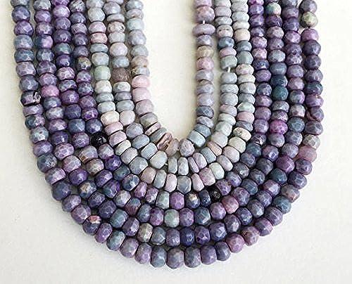 1 rang Natur Lavendel Opal Perlen, seltene Lavendel Opal facettiert Opal Rondelle Perlen, Lila Opal Halskette, 5,5–7 , 17,8