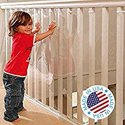 Kidkusion Clear Banister Guard, Best Baby and Tot Safety Products, Best Baby Safety Products, Best Tots Safety Products, Best toddler Safety Products, Best Baby Proofing Products, Kid's Safety, Children's Safety, Baby Safety
