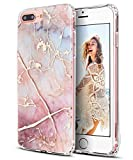 SPEVERT iPhone 7 Plus Case,iPhone 8 Plus Case,Marble Pattern Hybrid Hard Back Soft TPU Raised Edge Ultra-Thin Shock Absorption Protective Case for iPhone 7 Plus/iPhone 8 Plus - Colorful