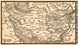 1888 Antique Persia Map of Afghanistan Iran Beluchistan Original Vintage Miniature Map Rare Size Not a Reprint Office Decor Gallery Wall Art Birthday Wedding Gift #1068