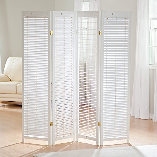 Finley Home Tranquility Wooden Shutter Room Divider