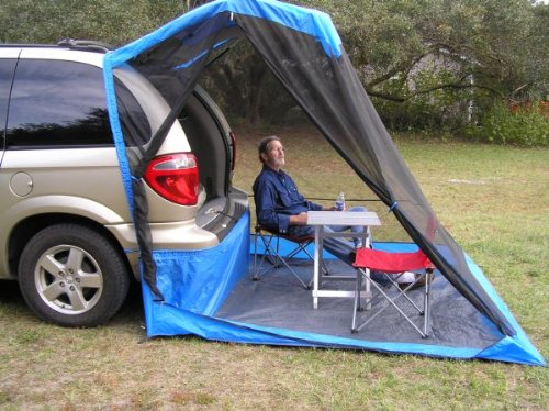 TailVeil Vehicle SUV Tent + Rainfly Super Easy and Fast Setup/Takedown Camp Bug Free