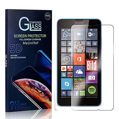 MelinHot Displayschutzfolie für Microsoft Lumia 640, 9H Härte Schutzfilm aus Gehärtetem Glas, Anti Bläschen Displayschutz Schutzfolie für Microsoft Lumia 640, 1 Stück