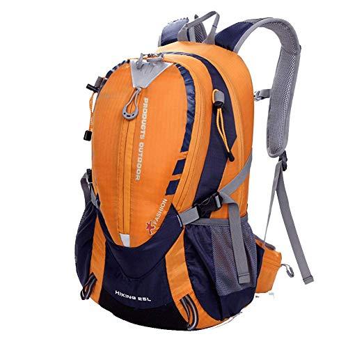 YHDQ Bolsa de Alpinismo al Aire Libre/Mochila de Senderismo para Hombres y Mujeres/Bolso de Hombro Doble-Orange