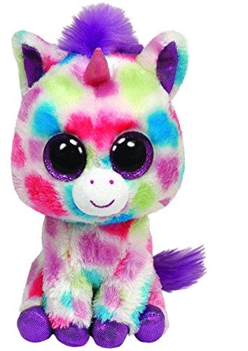 Ty 36982 Beanie Boos - Unicorno di Peluche Glubschi, Wishful Buddy a Pois, Misura L