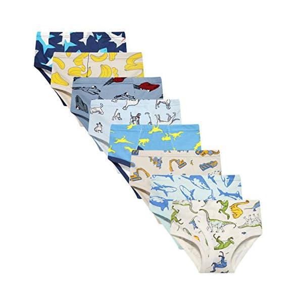 Taxzode Boys' Underwear Briefs Soft 100% Cotton 6-8 Pack Kids Underwear Toddler Undies