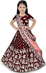 Care Instructions: Dry Clean Only Lehenga Details : Type :- Semi-stitched. Fabric :Tafetta Satin Blouse details :: type :- Unstitched. Fabric : Tafetta satin. Work : embroidered Premium Quality Superb Embroidered Kids Lehenga Choli Wash Care : Machin...