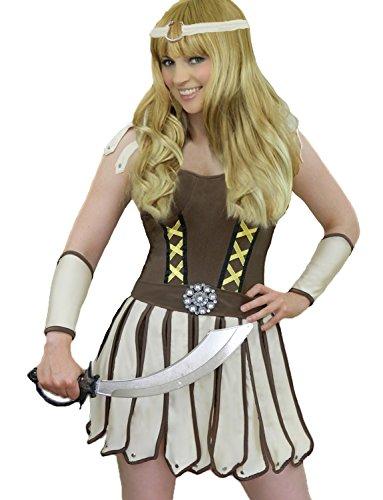 Yummy Bee Disfraz de Princesa Guerrera Seductor Fiesta de Disfraces Gladiador Romano Mujer Talla Grande 34 - 44 (Mujer: 40)