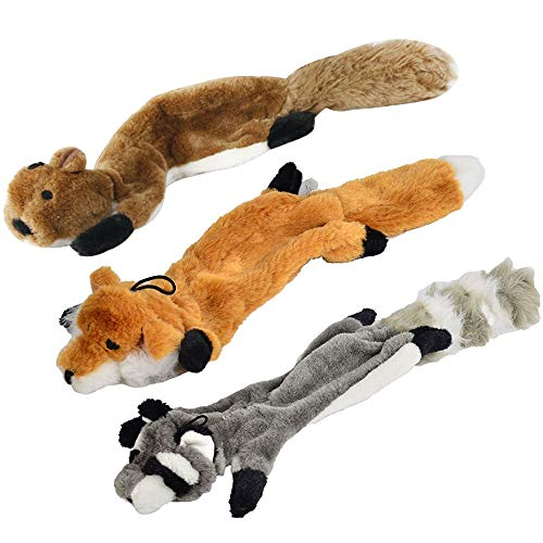 Elektronisches Spielzeug Kein füllendes quietschendes Plüsch-Hundespielzeug, Fuchs, Waschbär und Eichhörnchen zum Jungen Mädchen