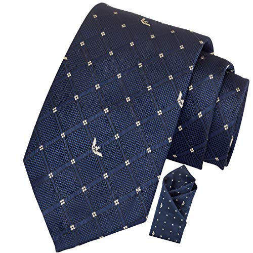 Exotica Fashions Men's Micro Silk Tie and Pocket Square with a Complimentary Lapel Pin (Royal Blue)