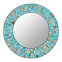 Handcrafted Glass Mosaic Decorative Wall Mirror for living room