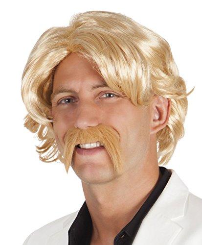 Boland Perruque « Chuck avec Moustache » pour Adulte, Taille Unique