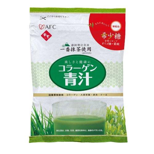 【AFC公式ショップ】 コラーゲン 青汁+ 希少糖 150g (エーエフシー 静岡朝比奈産 一番抹茶 使用 抹茶中50% D-プシコース 粉)