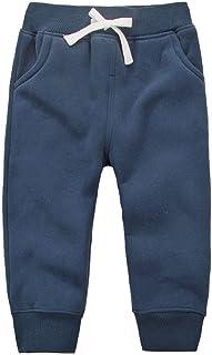 EUFANCE Unisex Niños Cintura elástica Algodón Pantalones cálidos Pantalones de bebé Pantalones 1-5 años