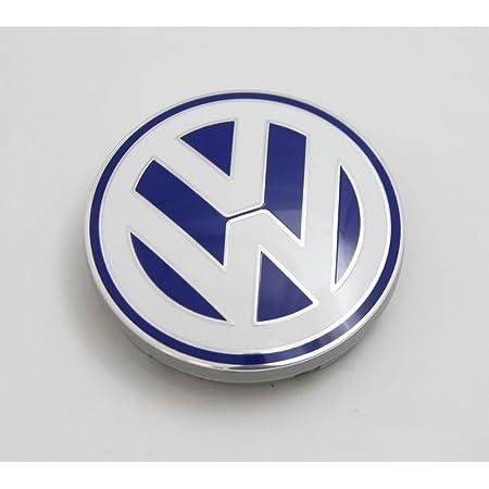 Volkswagen 1c0601171 09z Nabenabdeckung 1 Stück Alufelge Original Abdeckkappe Blau Weiß Auto