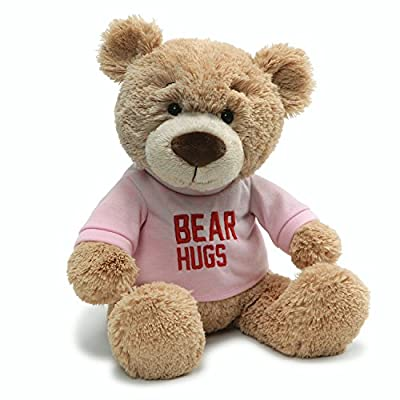 GUND Valentine's Day Free Hugs T-Shirt Message Bear Plush Stuffed Animal