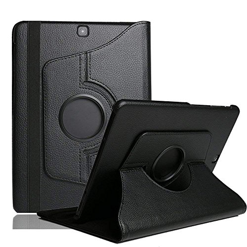 SamsungTab E 9.6 Case Cover,TechCode 360 Degrees Rotating PU Leather Smart Stand Case Flip Folio Protective Cover for Samsung Galaxy Tab E 9.6 inch Tablet SM-T560 SM-T561(Black,Tab E 9.6)