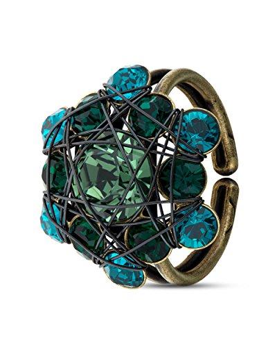 Konplott Ring Bended Lights grün
