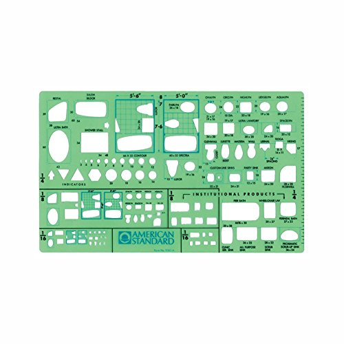Timely Plumbing Plan View Template, 1/16 inch Scale (9383TA)