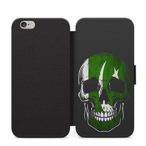 Pakistán Pakistaní cráneo país bandera cartera teléfono tarjeta bolsillo pu cuero caso cubierta para Samsung Galaxy S6 Edge