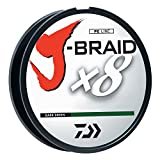 Daiwa JB8U30-300DG J-Braid Braided Line, 30 Lbs Tested, 330 yd/300M Filler Spool, Dark Green