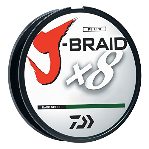 J-BRAIDX8, Filler Spool, Dark Green, Mono Dia.= 8lb.