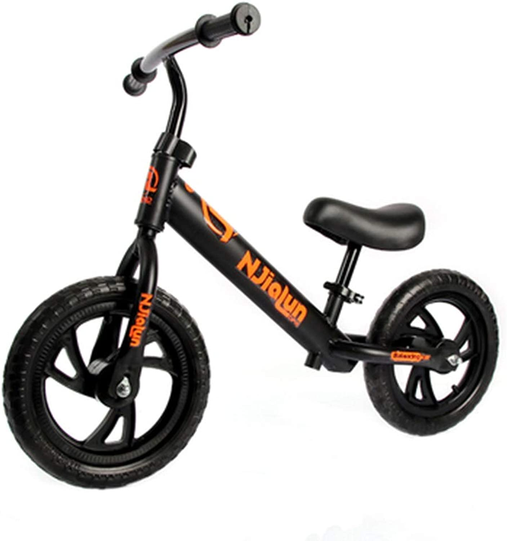 ordenar ahora SSRS Equilibrio para Niños Scooter para Niños de 2 2 2 a 6 años de Edad, Bicicleta de Acero al Cochebono de Alta Rueda Doble sin Pedal para Scooter (Color   negro )  precios mas baratos