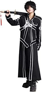 SAO Anime Sword Art Online Kirito Cosplay Costume