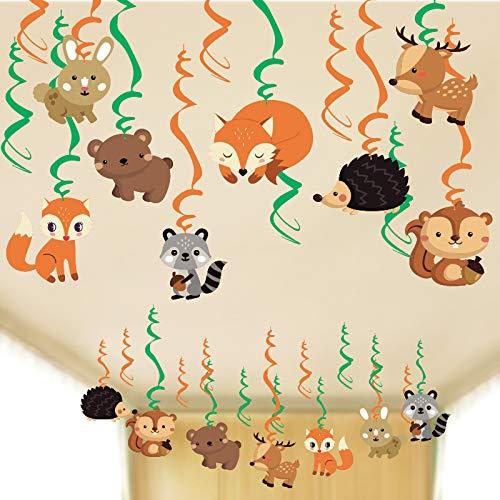 SUNBEAUTY 30er Tiere Spiralen Deko Folie Spiralen Safari Dekoration Wald Tier Party Kindertag Kindergeburtstag Zimmer Accessoires (Spiralen)