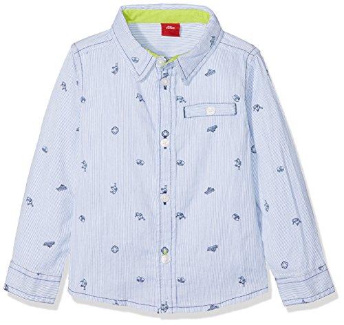 s.Oliver s.Oliver Baby-Jungen 65.802.21.6949 Hemd, Blau (Neon AOP 00A3), 80