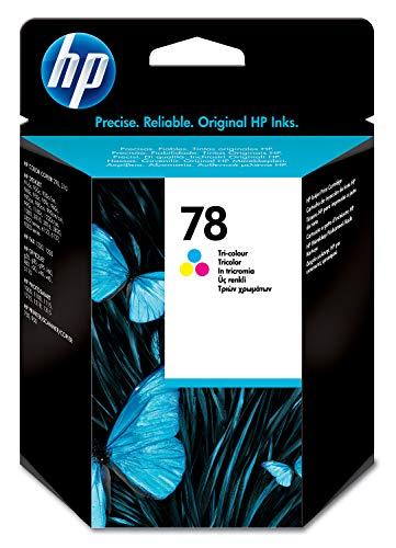 HP 78 C6578D, Cartucho de Tinta Original, Tricolor, compatible con impresoras de inyección de tinta HP Deskjet, HP Officejet, HP PSC