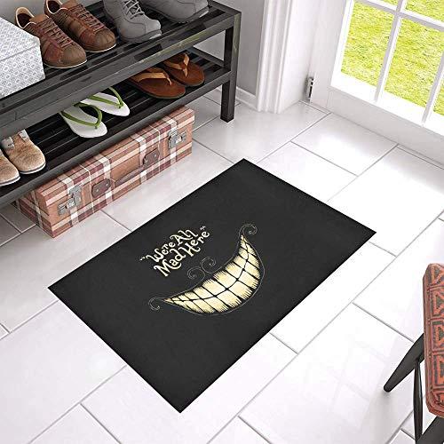 vrupi della casa tappetino 40 * 60cm Alice in Wonderland tappetino antiscivolo tappetino porta casa tappeto rettangolare tappeto bagno hotel benvenuto esterno coperta camera letto cucina tappetino