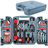 Hi-Spec Maletín Caja de Herramientas Completa 53 en Uno para Reparaciones del Hogar, Bricolaje, Carpintería, Montar de Muebles, Reparación de Bicicletas