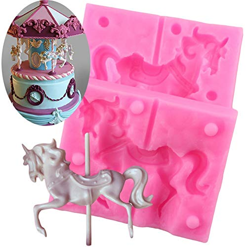 Carousel Horse Shape Silicone Cake Mold Bakeware 3D Silicone Mould For Chocolate Clay Cake Tools Decorating