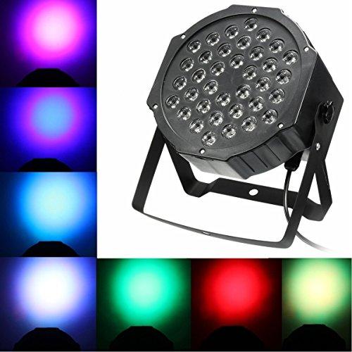 LED Par Licht Bühnenbeleuchtung Strahler Ton Steuerung Strahler Scheinwerfer Licht Effekt für Party Disco DJ schow Licht Projektor (36LEDs 36W)