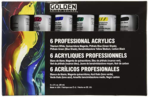Principal Professional 6 Piece Heavy Body Acrylic Set