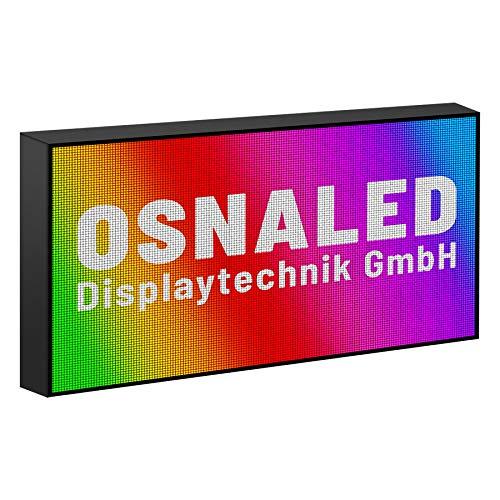 Preisvergleich Produktbild LED Display 32 x 64 cm [H x B] Laufschrift Leuchtwerbung WiFi Innen & Außen (P2, 5 (Innen))