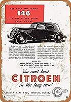 シトロエン自動車ティンサイン装飾ヴィンテージ壁金属プラークカフェバー映画ギフト結婚式誕生日警告のためのレトロな鉄の絵