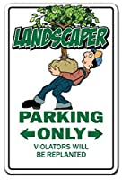 Landscaper Parking Landscaping Gardener Sod Mower Flowers Trees メタルポスター壁画ショップ看板ショップ看板表示板金属板ブリキ看板情報防水装飾レストラン日本食料品店カフェ旅行用品誕生日新年クリスマスパーティーギフト