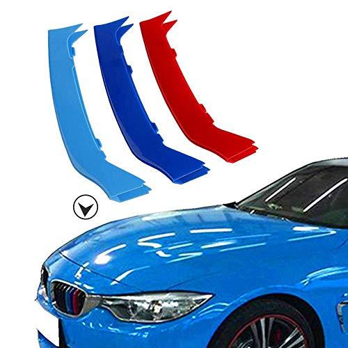 muchkey 3D M vor Styling Kühlergrill Einsatz Trim Motorsport Streifen Grill Cover Dekoration Aufkleber für F32F33F369Strand