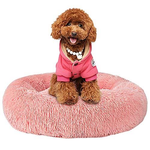 Cozywind Cuccia Rotonda per Cani Ciambella per Animali Domestici, Cuccia Letto Morbida, Cuccia Pelosa in Ultra-Morbida Peluche, Cuscino per Cani Letto per Gatti Peluche (70cm, Rosa)
