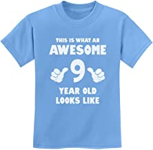 TeeStars - This is What an Awesome 9 Year Old Looks Like Youth Kids T-Shirt