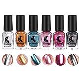 Metallischer Spiegel-Effekt-Nagellack, 6 Farben-Nagel-Kunst-Chrom-Metall Shinny Farbnagel-Öl(Nagellack)