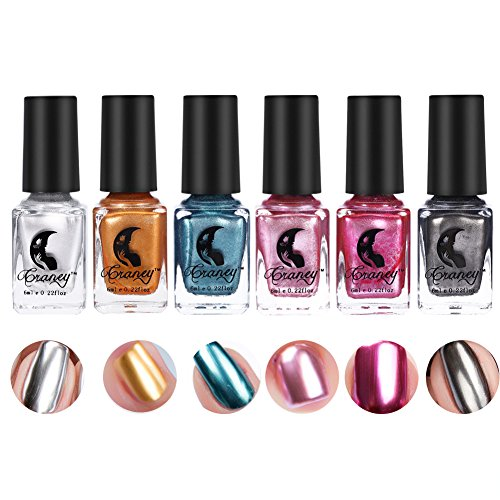 Smalto per unghie a effetto specchio metallico, 6 colori per unghie(6 colori)
