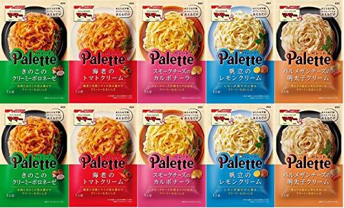 【Amazon.co.jp限定】 マ・マーpaletteパレットソース5種2 10個【クリーミーボロネーゼ、パルメザンチーズの明太子クリーム、海老のトマトクリーム、スモークチーズのカルボナーラ、帆立のレモンクリーム】