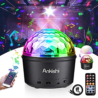 Disco Light, Disco Ball Light, Night light, Bluetooth and Sound Activated Party Lights, 9W 9 Colors LED RGB DJ Stage Light for Kids Birthday, Family Gathering, Christmas Party, Holiday, Club, Wedding